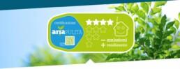 CERTIFICAZIONE aria pulita etichetta stufa pellet
