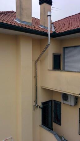 Installazione canna fumaria per stufa a pellet marchio Ravelli Milano 02