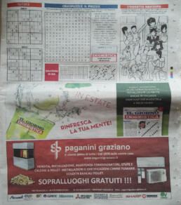Paganini Graziano pubblicita quotidiano il giorno